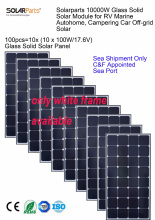 10 x 100W  Solar Panels bundle