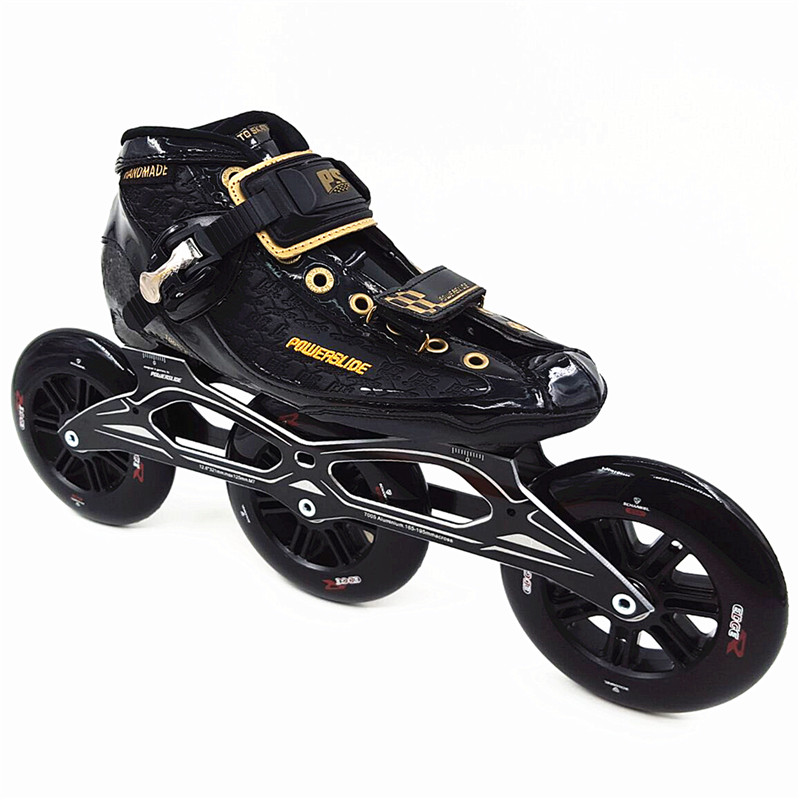 Professional carbon patins Power skate 3x125mm wheel inline speed skates speed skating roller skates shoes C4 best carbon shell