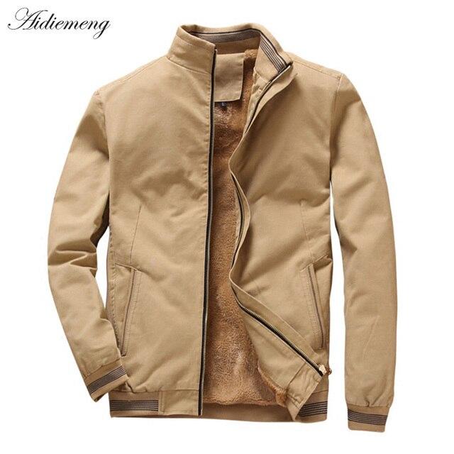 Winter Fleece Jacket Men 2019 Casual Bomber Jacket Men Windbreaker Fashion Cotton Warm Men Jacket Male Coat For Men Outwear Coat