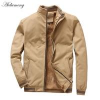 Winter Fleece Jacket Men 2018 Casual Bomber Jacket Men Windbreaker Fashion Cotton Warm Men Jacket Male Coat For Men Outwear Coat