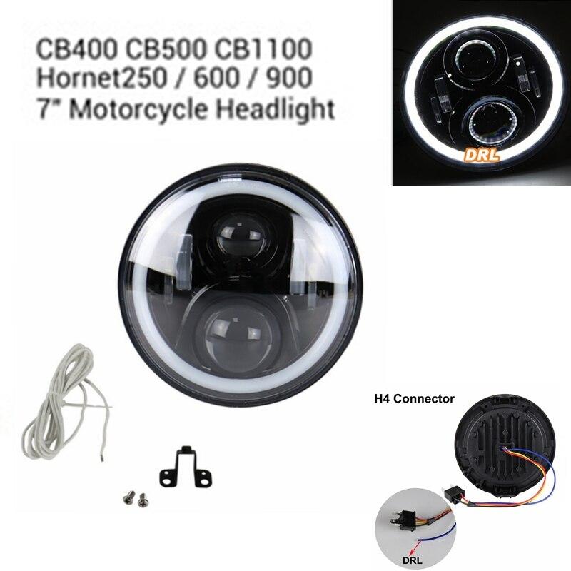 H4 projecteur LED Phare 7 pouces Pour Honda CB400 CB500 CB1300 Hornet 250 600 900 TEV CVTR250