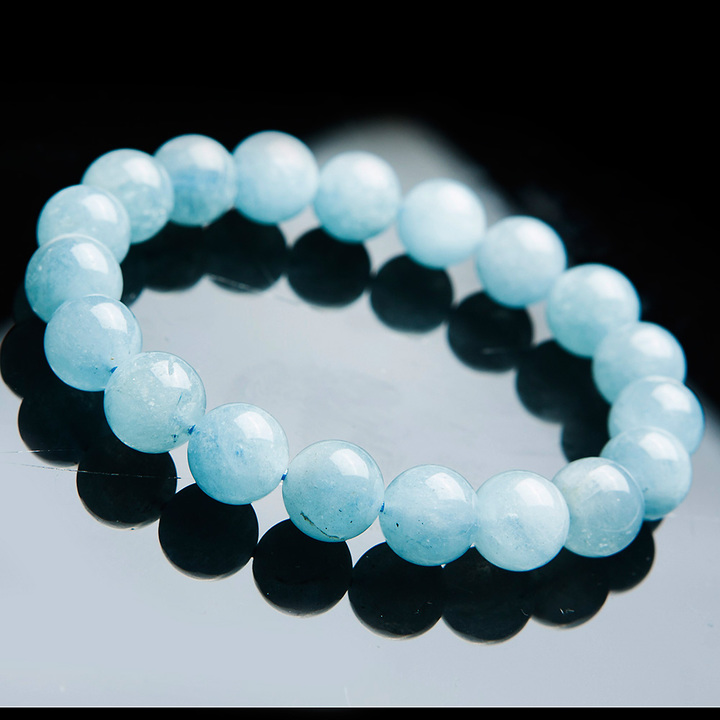 Genuine Natural Blue Aquamarine Bracelet Women Men Party Stretch Crystal Round Bead Stone Bracelet 9mm 10mm 11mm 12mm AAAAAGenuine Natural Blue Aquamarine Bracelet Women Men Party Stretch Crystal Round Bead Stone Bracelet 9mm 10mm 11mm 12mm AAAAA