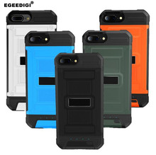 Egeedigi Slim shockproof Silicone Battery Charger Case Use Audio Headset For iPhone 6 6s 7 8 Plus Power Bank External Back cover