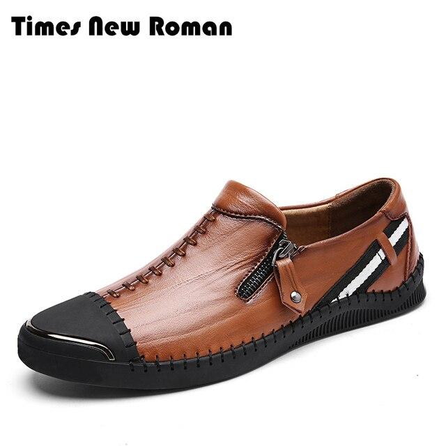 premium selection 8a093 d210a Times New Roman Brand Genuine leather men casual shoes Size 38~44  comfortable fashion men shoes