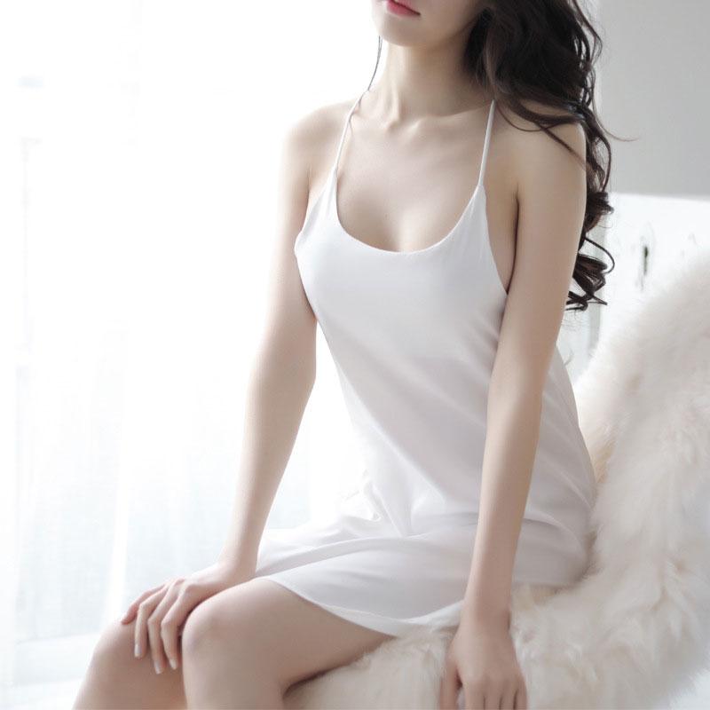sexy Cotton Nightgown For Women Nightwear Sleepdress Sexy O Neck Nightgown Nightdress Home night shirt Clothes sleeping dress