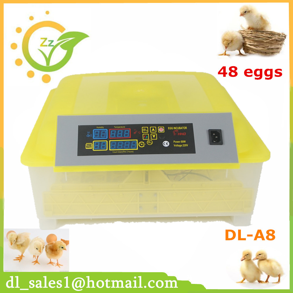 Hot sale home 48 eggs automatic incubator digital temperature control turning brooder chicken goose egg incubator free ship to au new sale home automatic egg incubator 56 eggs chicken incubator brooder quail eggs incubators
