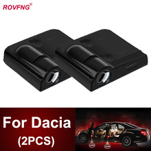 ROVFNG Car Door Led Welcome Light Laser Projector Ghost Shadow For Dacia Logan Lodgy Duster Sandero