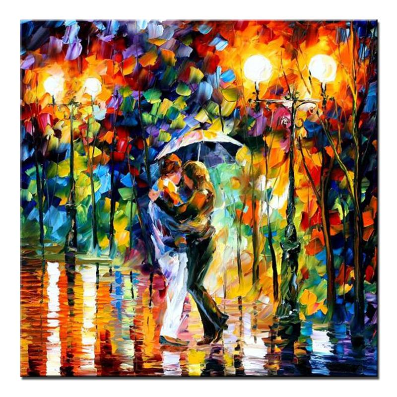 Handpainted Oil Painting Palette Knife Thick Paint Colorful Paintings Modern Landscape Home Canvas Living Room Decor Art Picture In Calligraphy