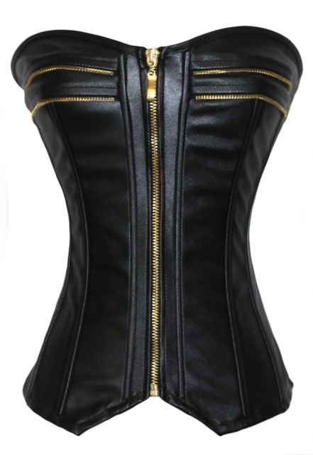 28142d27166 Dear Lover bustiers   corsets plus size corset top Free shipping Style  Leather over Bust Sexy