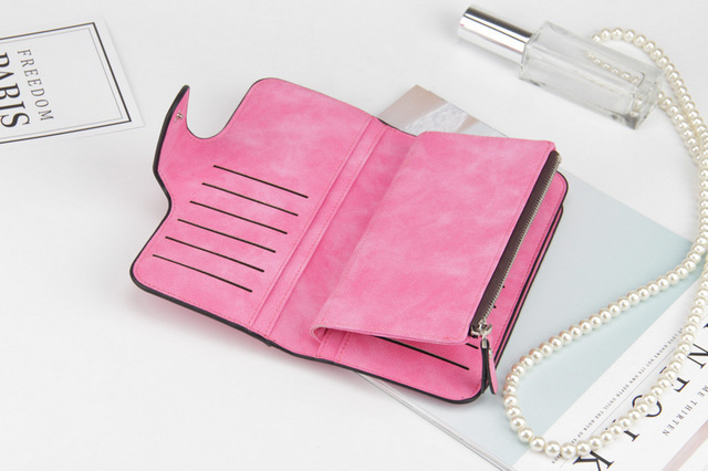 2019 New Brand Leather High Quality Design Women Wallet