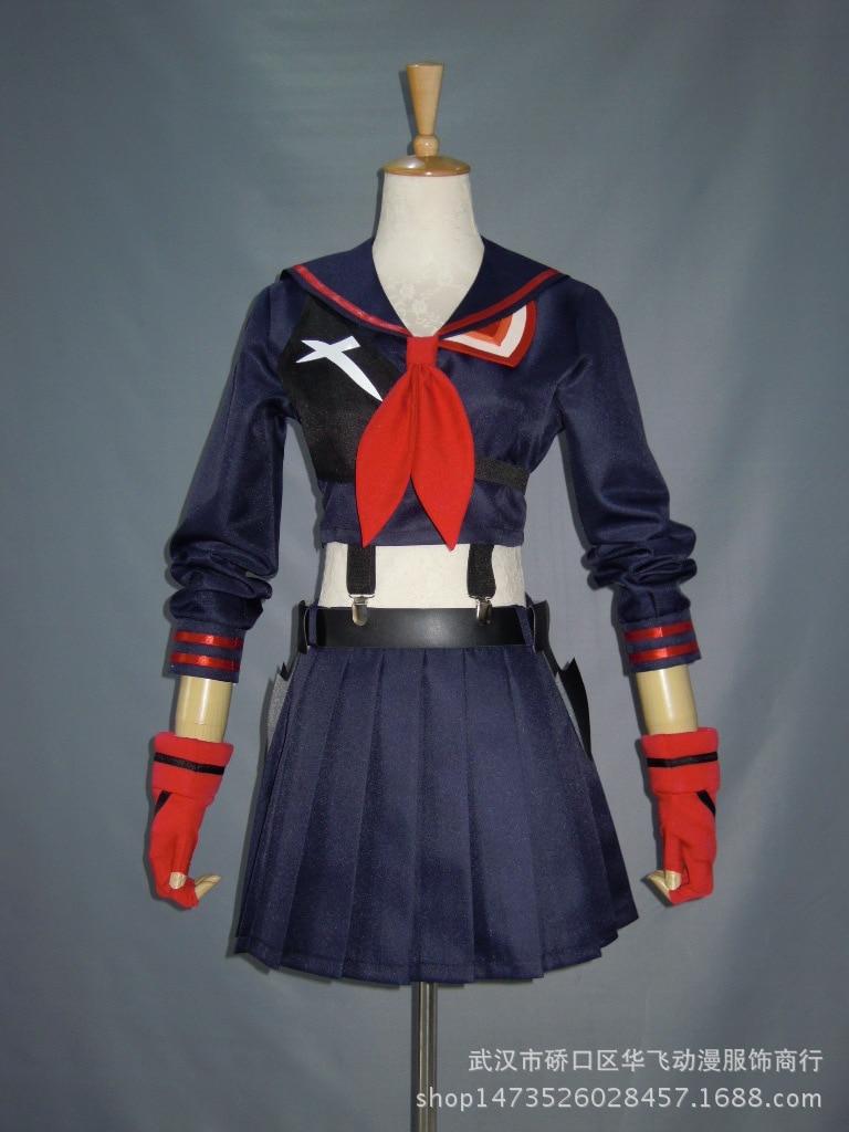 KILL <font><b>la</b></font> KILL Ryuko Matoi japanese Anime Party Halloween Cosplay costumes For Women Girls <font><b>Dress</b></font> Custom <font><b>Made</b></font> Free Shipping
