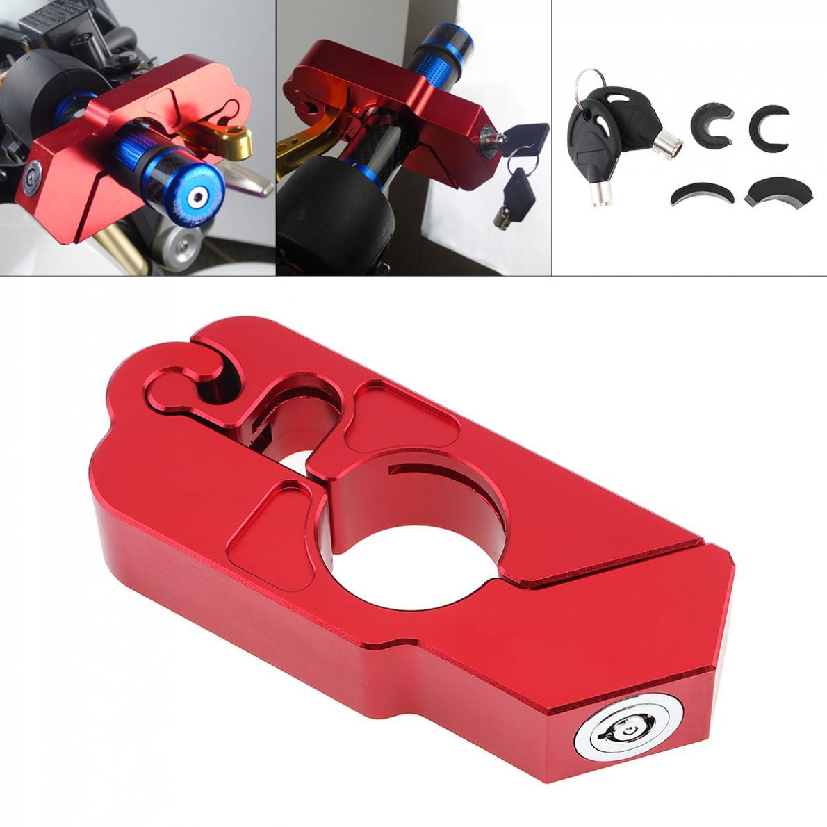 CNC Handlebar Grip Locks Universal Motorcycle Security Safety Locks Brake Clutch Levers Locks Theft Protection Lock