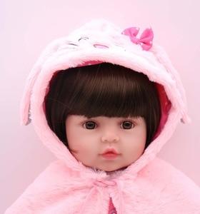 Image 4 - NPK 48cm 소프트 리얼 터치 실리콘 boneca bebes reborn 실리콘 reborn 유아 아기 인형 kids 생일 크리스마스 선물 인기