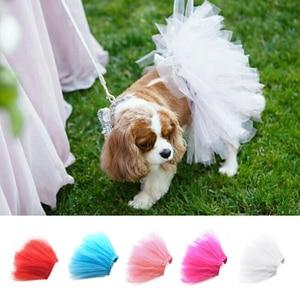 Image 3 - Gorący nowy letni pies Tutu spódnica księżniczka Pet ubranko dla kota miękki tiul Cosplay Bulldog sukienka dla małego zwierzaka 5 kolorów DROPSHIPPING