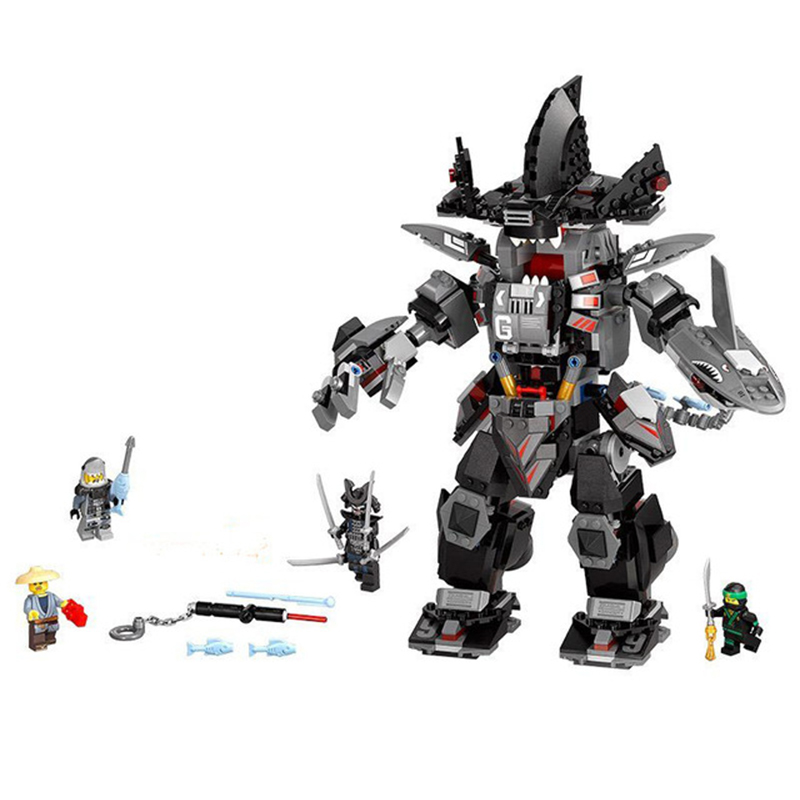 Ninja Building Block Compatible Legoed Ninjagoes Garma Mecha Man Dark Devil Garmadon Lloyd 70613 Brick Model Educational Toys
