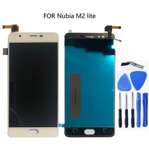Image 1 - 100% getestet 5,5 FOR zte nubia M2 Lite M2 jugend neue NX573J volle LCD display + touch screen digitizer komponente schwarz weiß