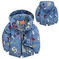 Ребенок мальчик одежда мальчика зимние куртки белая утка вниз waem с капюшоном мальчик зимнее пальто письмо отпечатано с капюшоном зимой дети ouwears