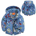 Ropa del bebé del bebé de invierno chaquetas de pato blanco abajo waem encapuchados abrigos de invierno niño carta impresos con capucha invierno de los niños ouwears