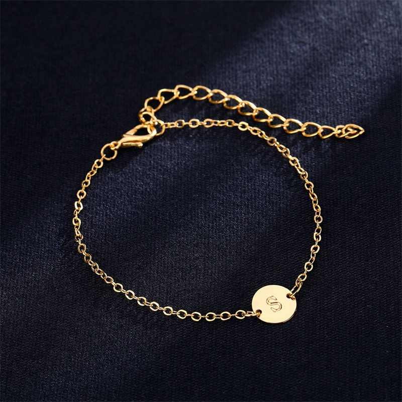 Модный золотой цвет браслет и подвески для женщин регулируемые простые Браслеты Женские Ювелирные изделия вечерние подарки