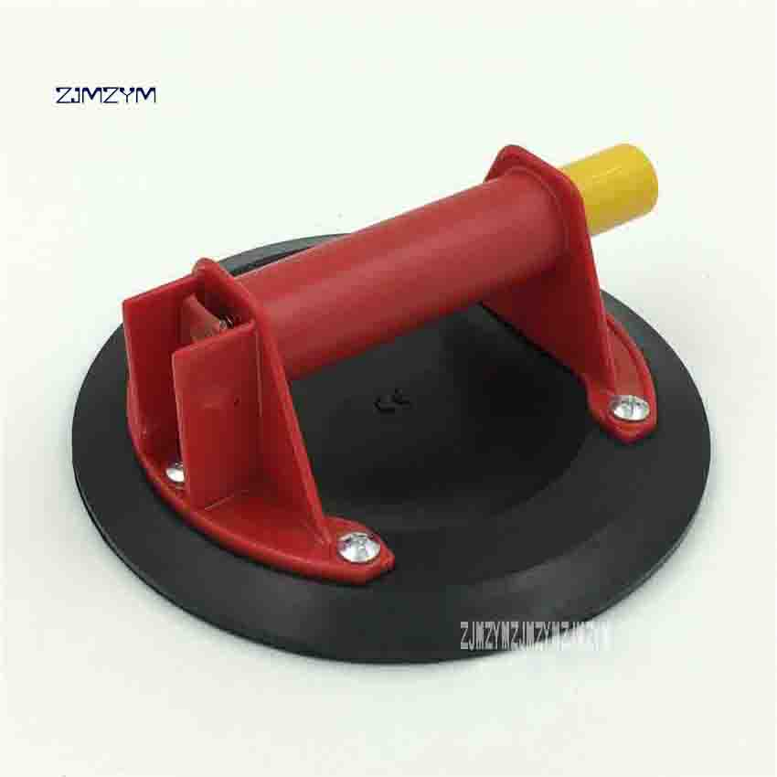 New Arrival Hand Pump Glass Single Claw Sucker Red ABS Plastic Handle Sucker 206mm Diameter Used For Suction Flat Glass