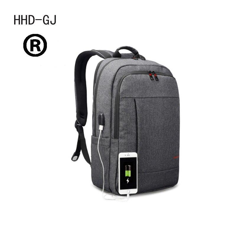 Original HHD-GJ Anti-thief USB charging 15.6inch laptop backpack for women Men Backpack school backpack Bag for Male Mochila