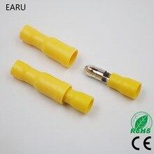 50 יחידות צהוב Bullet נקבה זכר תקע כבל מבודד מחבר מלחץ חיווט מסופים FRD5.5 195 FRD5 195 MPD5.5 195 MPD5 195