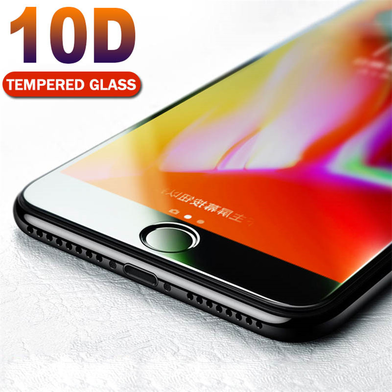 10D Protective Glass for iPhone 7 Screen Protector For iPhone 8 Xr Xs Max Tempered Glass on for iPhone X 6 6s 7 8 Plus Xs Glass
