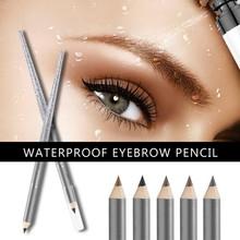 1PC Makeup Eyebrow Enhancer Waterproof Eyebrow Pencil Pen High Quality Lating Dark Brown Eye Brow Pencil ardell mechanical brow pencil medium brown цвет medium brown variant hex name 7b6a62