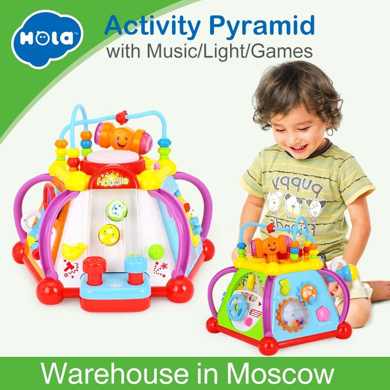 Jouet de Center de jeu de Cube d'activité musicale de jouet de bébé avec 15 fonctions et compétences apprenant des jouets éducatifs pour le cadeau d'enfants - 5
