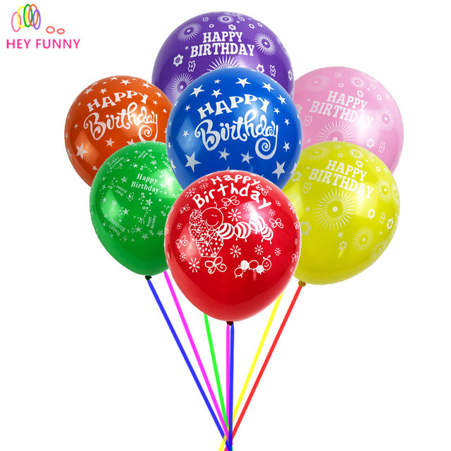 50 pcs lot 12 inch colorful happy birthday latex balloons birthday