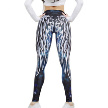 3D New Angel Devil Wings Leggings Women Put Hip Printed White Fitness Leggins Mujer Pants Elastic Trousers