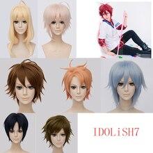 חדש אנימה IDOLiSH7 פאת קוספליי Iori איזומי Riku Nanase Tamaki Yotsuba יאמאטו Nikaidou Tsumugi עשר Kujou סינטטי שיער + כובע פאה