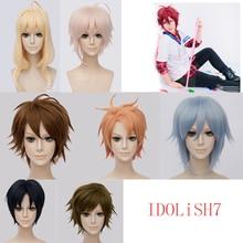 Yeni Anime IDOLiSH7 Cosplay peruk Iori Izumi Riku Nanase Tamaki Yotsuba Yamato Nikaidou Tsumugi on Kujou sentetik saç + peruk kap