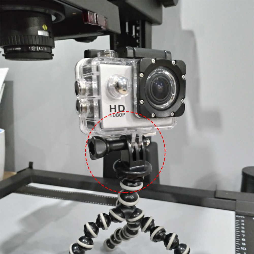4 piezas/pac Go Pro accesorios adaptador de montaje de trípode para Go pro 7 6 5 4 3 3 + 2 1 Yi 4 K Sj4000 Sj6 Sj8 pro de DJI OSMO Cámara de Acción