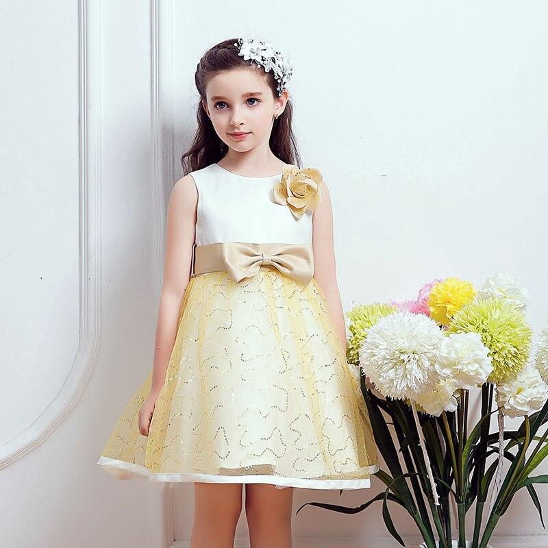 ФОТО 2016 new princess dress summer flower girls dress medium and large children