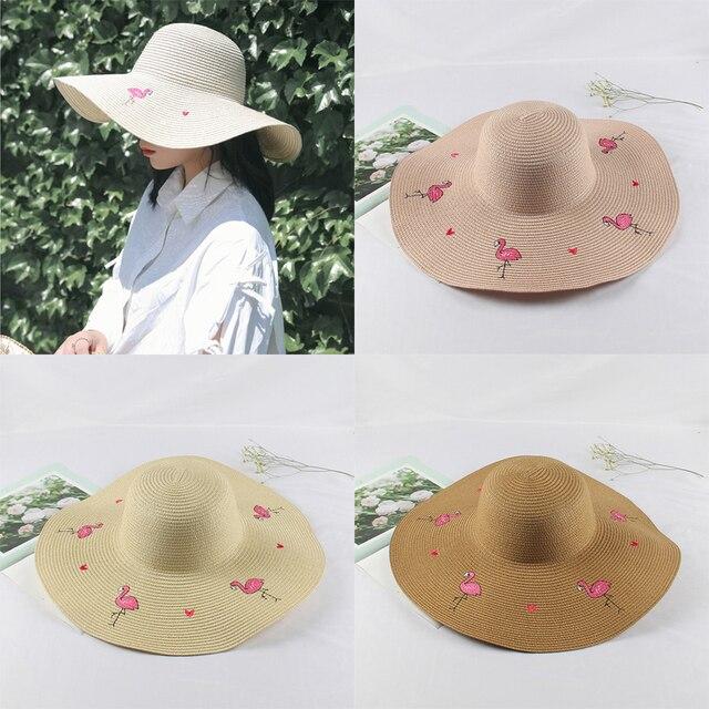 1adbc25554f Ladybro Wide Big Brim Floppy Straw Hat Sun Hat Beach Women Summer Hat UV  Protect Cap