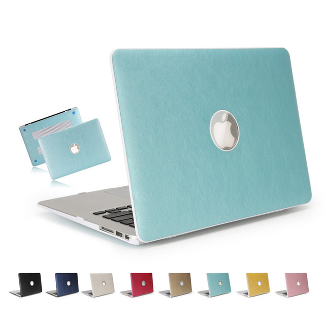 Для macbook air 13.3 случай pu кожа + жесткий пк защитный shell с прозрачная крышка клавиатуры для apple macbook 13 дюймов