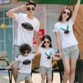 Бесплатная Доставка лето семья одежда наборы спортивные Дети семья посмотрите модальные Slub хлопок футболки + Брюки Родитель-ребенок наряды