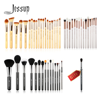 Jessup Buy 3 get 1 gift Makeup Brushes set Beauty tools Cosmetic Make up brush Bamboo Wood handle Eye Liner Powder Foundation