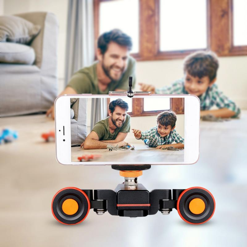 YELANGU L4X Mini Motorized Electric Track Slider Motor Dolly Truck Car Remote Control for Camera Camcorder DV Canon smartphone image