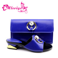 blue Shoes and Bag To Match Italian Women Shoe and Bag To Match for Parties African Shoes and Bags Matching Set
