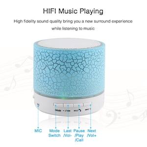 Image 4 - HLTON LED אלחוטי Bluetooth רמקול מיני מוסיקלי אודיו סאב TF USB רדיו FM רמקול עם מיקרופון עבור טלפון MP3