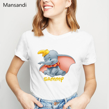 dumbo t shirt femme graphic tees women clothes 2019 Elephant baby animal printed tshirt  female harajuku clothes t-shirt tops animal футболка animal graphic p05 12