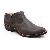 Ковбойские мужские ботинки без шнуровки из натуральной воловьей кожи, рабочие ботинки, мужские ботильоны, botas hombre, ручная работа, высокое ка