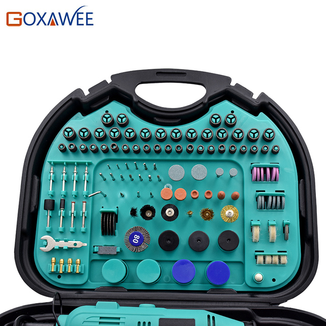 GOXAWEE Electric Drill Power Tools Mini Drills For Dremel Rotary Tools For Polishing Grinding Cutting Mini Grinder Tools  1