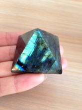 afa880331+++Natural Moonstone natural labradorite pyramid Decoration