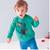 En el otoño de 2016 nueva ropa del estilo Europeo suéter niños dinosaurio de manga larga con cuello redondo de terciopelo bebé ropa