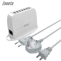 Zeoota Charger Desktop Power Adapter 7 USB Ports Portable 40W 8A Phone With 1 5 Meter