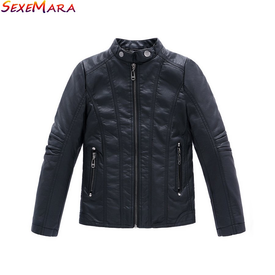 Boys Coat 2017 New PU Leather Black Thick Kids Casual Jacket Boys Waterproof Spring Autumn Winter Kids Jackets And Coats 3-14Y