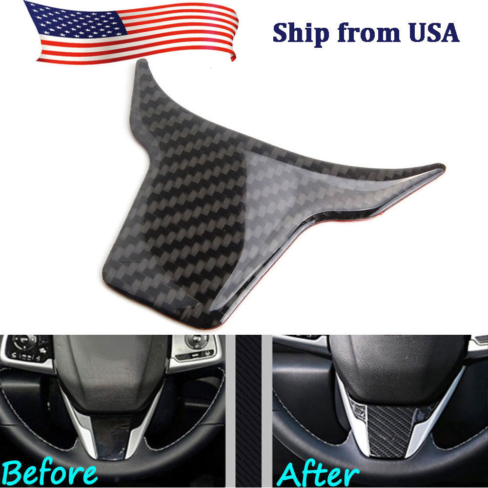 For Honda Civic 2016 2018 1pc Real Carbon Fiber Car